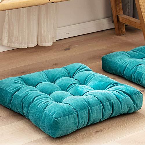 Xinrui Tatami Futón de peluche engrosado para suelo de gran tamaño, cojín para asiento de balcón, asiento de yoga, asiento de pana (55 x 55 cm)