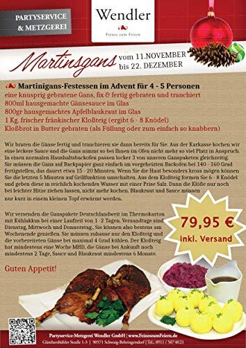 Gänsepaket / Martinsgans-Festessen fix & fertig gebraten und tranchiert