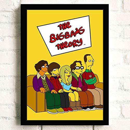 ermuyixin Wandkunst Leinwand Malerei Poster The Big Bang Theory Tv Film Für Wohnkultur Poster Und Drucke Ungerahmt Dekorative Bilder S2238 40X50Cm