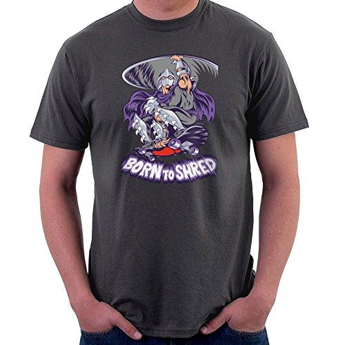 Born to Shred Teenage Mutant Ninja Turtles Skateboard Shredder Men's T-Shirt