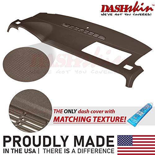 DashSkin Molded Dash Cover Compatible with 07-14 GM SUVs w/Dash Speaker in Cocoa (USA Made)
