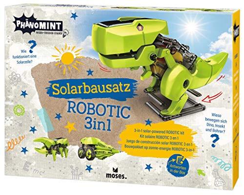 Moses. PhänoMINT Bausatz für Kinder, Mit Solarantrieb, 3 in 1 Dino – Insekt – Bohrer, Zum selber Machen