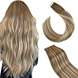 Ugeat Extensiones Remy Natural Adesivas 14 Pulgada Tape Hair