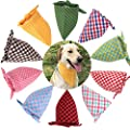 TAOBABY Boys/Girls 8PCS/Pack Pet Puppy Dog Cat Bandanas Dog Classic Plaid Patterns Scarf for Small,Medium Size Dog,Large Cats (Spring&Summer Colors)