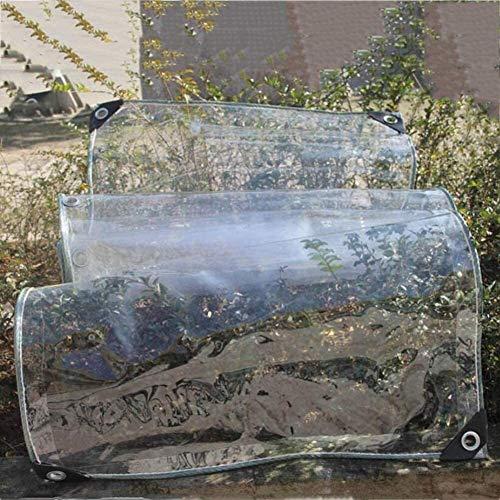 Toldo Clear Tarpaulin Transparente Lona Lona, Balcón cubierta de agua de lluvia reliquias culturales impermeable grueso poncho de plástico transparente de tela Lona jardín al aire libre Cortina deflec