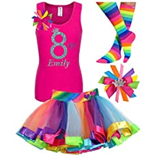 Shimmer and Shine Dress 4th Fourth 4 birthday Shirt  Personalized  2 Pc Tutu outfit Purple Fast shipping +NAME+