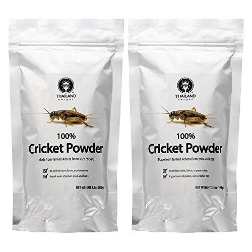 Cricket Powder 2-pack (100% Cricket; .44 lb; 70g protein per cup) by Thailand Unique