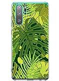Oihxse Transparente Silicona Case Compatible con Huawei P20 Lite/Nova 3E Funda Suave TPU Protección Carcasa Moda Dibujos Animados Divertida Diseño Ultra-Delgado Cubierta-Hojas