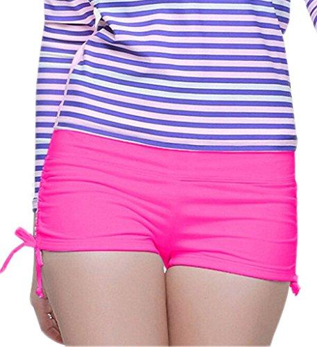Papaya wear Women's Boardshorts Beach Short Swim Brief with Adjustable Ties Rose XS