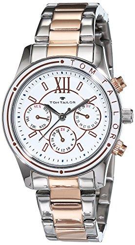 TOM TAILOR Watches Damen-Armbanduhr Analog Quarz Edelstahl beschichtet 5414602