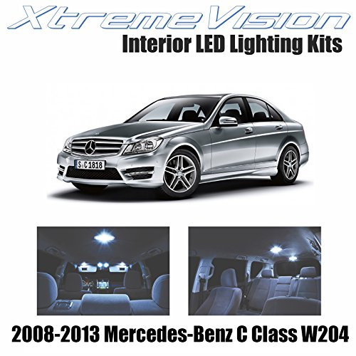 Xtremevision Interior LED for Mercedes-Benz C Class W204 2008-2013 (13 Pieces) Cool White Interior LED Kit + Installation Tool