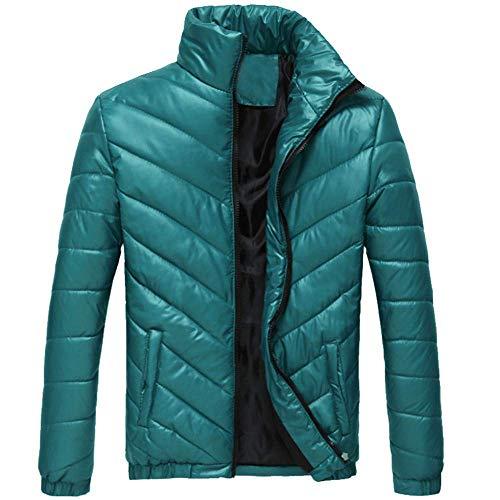Adelina heren winterjas gewatteerde jas soild kraag rits gewatteerde winter warme vrije tijd Fashionable Completi rits tas donsjas katoen mantel sale