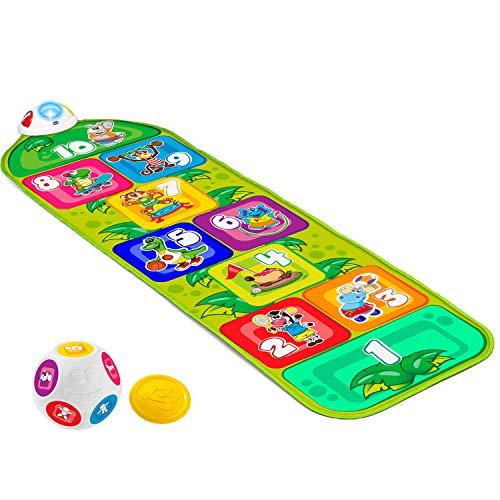 Chicco Tappeto Musicale Bambini Jump & Fit Playmat, Gioco Elettronico e Interattivo con Luci e Suoni, Gioco della Campana per Casa e all Aperto, 2 Modalità, 150 cm, Giochi per Bambini 2-5 Anni