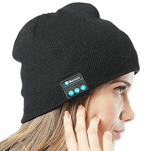 MP power @ Negro Inalámbrica Auriculares deportivos Gorro