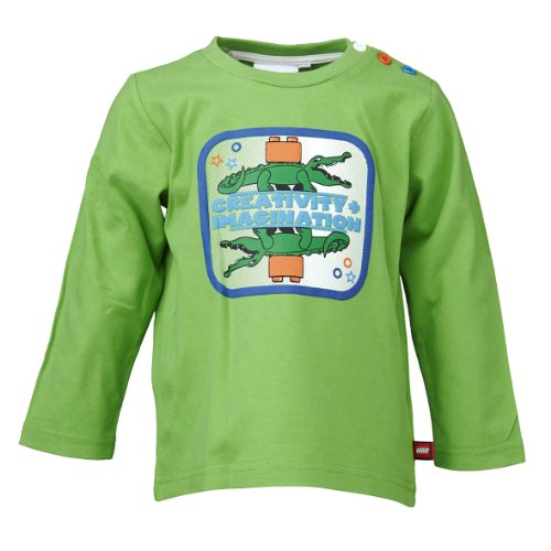 LEGO Wear T-shirt Col ras du cou Manches longues Bb garon - Vert - Grn (843 FOREST GREEN) - FR : 12 mois (Taille fabricant : 80)