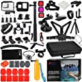 Husiway Accessories Kit for Gopro Hero 8 7 6 5 Black Waterproof Housing Silicone Case Glass Screen Protector are Compatible with Hero8 Hero7 by Husiway