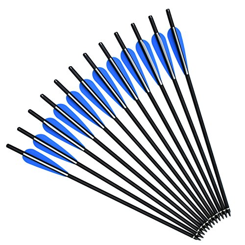 NIKA ARCHERY 16' Crossbow Bolts Mix Carbon Arrows for Target Hunting Outdoor Sport 12pcs/lot