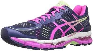 ASICS Women's Gel Kayano 22 Running Shoe, Indigo Blue/Pink Glow/Pistachio, 6 2A US