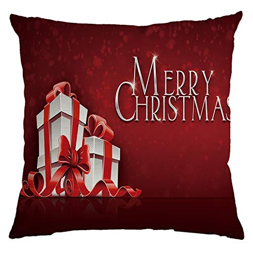 BBQQ Fashionable Home Decor Christmas Linen Pillow Cover Sofa Waist Cushion Cover, Christmas Decorations Tree Ornaments Skirt Topper Lights Pajamas for Family