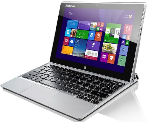 Lenovo MIIX 2 25,6 cm (10,1 Zoll FHD IPS) Tablet-PC (Intel Atom Z3740, 1,86GHz, 2GB RAM, 64GB eMMC, Touchscreen, Win 8.1) silber