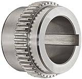 Lovejoy 00135 Size F 1 Sier-Bath Flanged Sleeve Gear Coupling, Flex Hub, Carbon Steel, Inc...