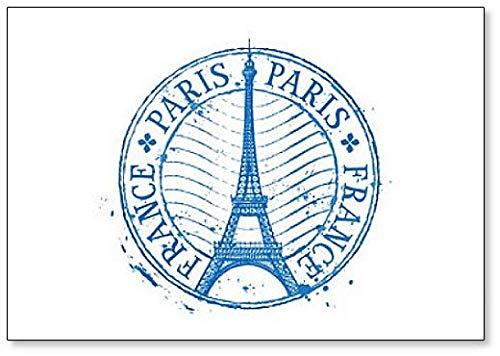 Paris France Grundge Style Classic Aimant de réfrigérateur