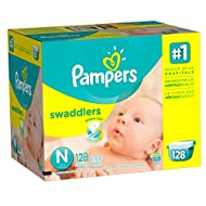 Pampers Swadlers Size N