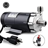 FERRODAY Magnetic Drive Pump Wort Pump Food Grade High Temperature Stainless Head Magnetic Pump 15RM with 1/2'NPT thread Home Brew