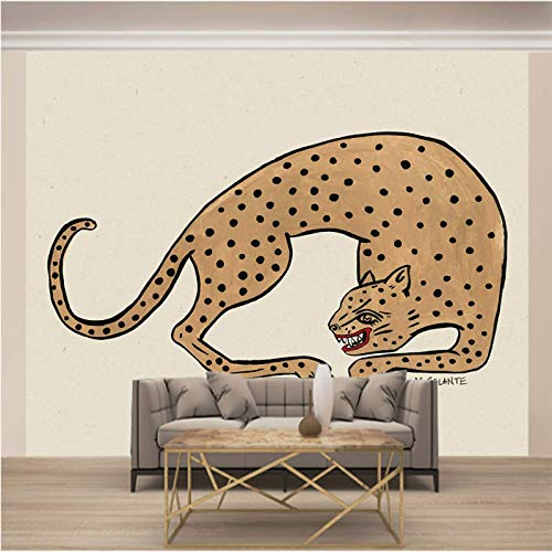 Papel Pintado Pared Gris Leopardo Marca Msrahves