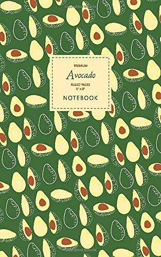 Price comparison product image Avocado Notebook - Ruled Pages - 5x8 - Premium: (Green Edition) Fun notebook 96 ruled / lined pages (5x8 inches / 12.7x20.3cm / Junior Legal Pad / Nearly A5)