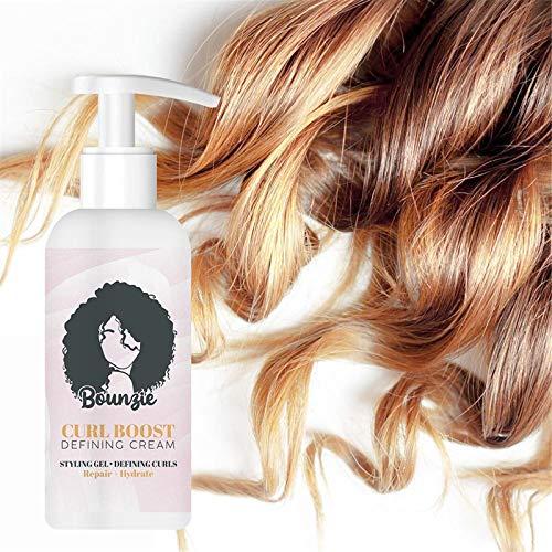 Curl Boost Defining Cream, 50ml Natural Organic Argan & Camellia Oil Bundle Styling Cream, Gel de peinado profesional Curl Boost Defining Cream, Tratamiento capilar para todo tipo de cabello