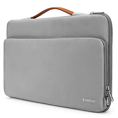"tomtoc 14 Zoll Laptop Tasche Hülle für 15 Zoll MacBook Pro, 15"" Surface Laptop 3, 14\"" Thinkpad X1 Carbon, Acer Lenovo HP Chromebook Laptoptasche Notebook Sleeve wasserdicht Schutzhülle Grau"