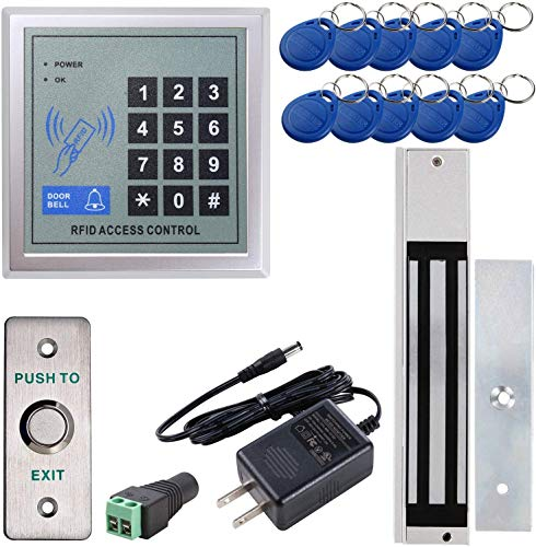 UHPPOTE Outswinging Door Access Control Keypad System with 600lbs Electric Magnetic Lock