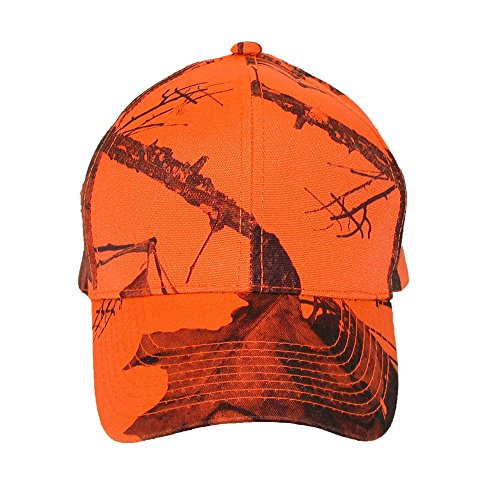 CTM Mossy Oak Break Up Blaze Casquette de baseball pour homme Orange - Orange - Medium