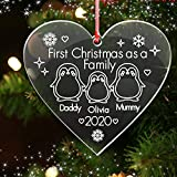 howson london Personalised Christmas Tree Decoration - Xmas Bauble Engraved Gift Bauble - Merry Christmas Different Shape and Design Bauble Ornament