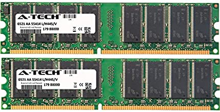 2GB KIT (2 x 1GB) for Dell Dell Dimension 1100 (DE051) 2400 3000 4550 (533Mhz Bus) 4590T 4600 4600C 4600i 8300 XPS. DIMM DDR Non-ECC PC2700 333MHz RAM Memory. Genuine A-Tech Brand.