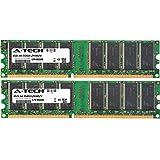 2GB KIT (2 x 1GB) for Dell Dell Dimension 1100 (DE051) 2400 3000 4550 (533Mhz Bus) 4590T 4600 4600C 4600i 8300 XPS. DIMM DDR Non-ECC PC2700 333MHz RAM Memory. Genuine A-Tech Brand.