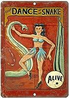 ヘビサーカスの生きているエキゾチックなダンスバー、書斎、リビングルーム、ダイニングルーム、ベッドルーム、カフェのレトロなティンメタル看板