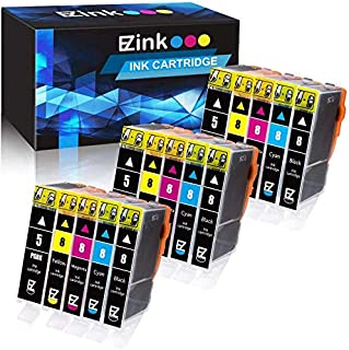 E-Z Ink (TM) Compatible Ink Cartridge Replacement for Canon PGI-5 PGI5 CLI-8 CLI8 to use with Pixma Pro9000 iP6600D iP4300 iP4500 MP600 (3 Large Black,3 Small Black,3 Cyan,3 Magenta,3 Yellow, 15 pack)