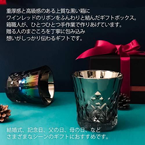 PROGRESSロックグラスチタンミラー日本製ウィスキーワインお酒がまろやかにクロス付(Attain,Infinite)