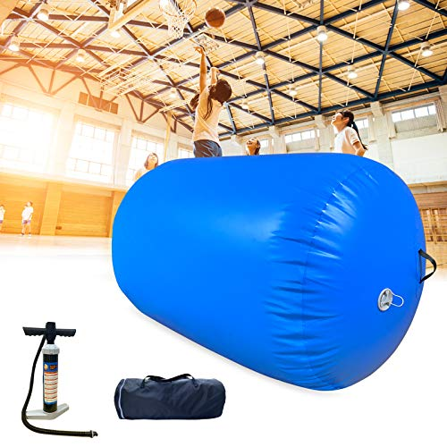 Air Roller Gymnastics Inflatable Tumbling Mats 31 inches Thickness Inflatable Floor Mats Gymnastics Barrel for Home Use Cheerleading Yoga Training
