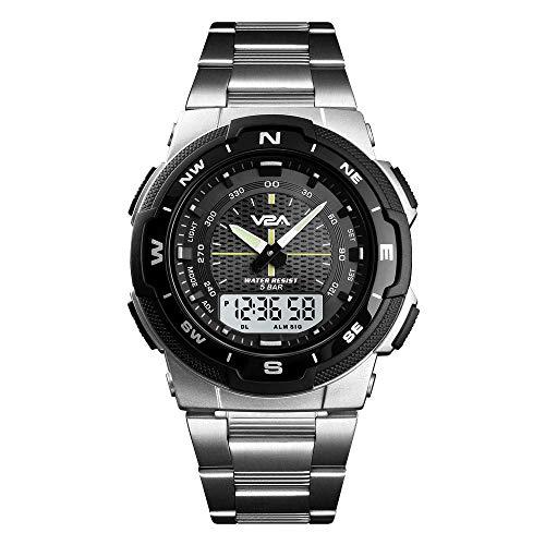 V2A Analogue - Digital Men's Watch (Black Dial)