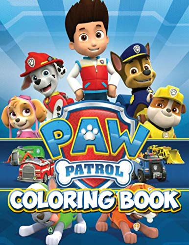 Paw Patrol Coloring Book: Over 50 Unique and Cool Paw Patrol Disney Heroes Coloring Pages for Creative Kids Boys