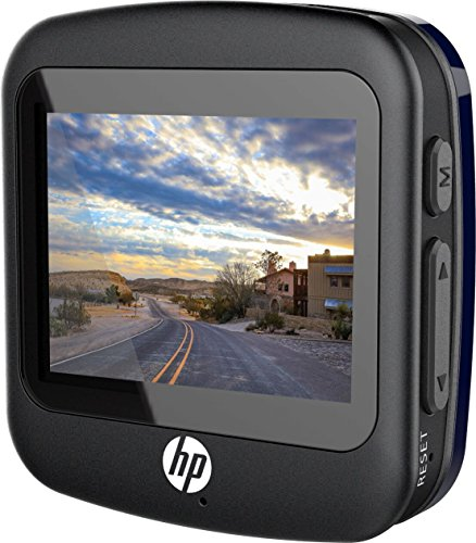 HP F230 Dash Cam, 2.0 Inch Windshield/Dashboard Full HD 1080P with G-Sensor Car DVR, Camcorder, Accident Video Recorder with 120° view angle - Blue