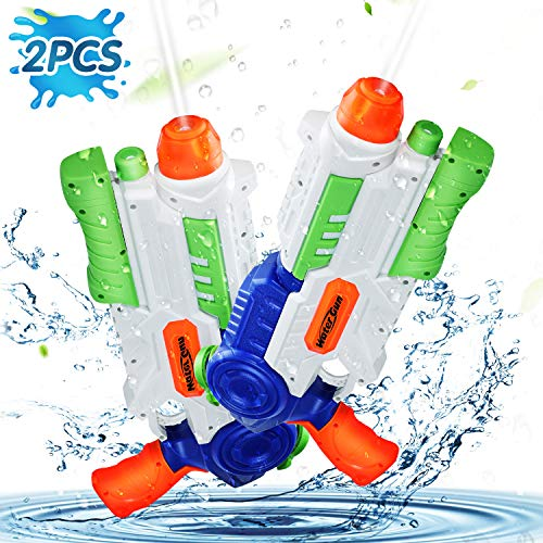 Ucradle Water Gun, 2 Pack Super Water Pistols with 1200ML Large Capacity, Water Guns Blaster Powerful...