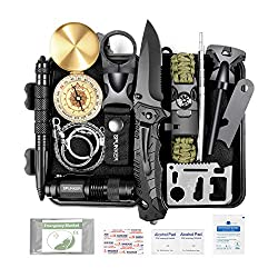 SPUNKER Gifts for Men Dad Christmas,15 in 1 Survival Kit,Birthday...