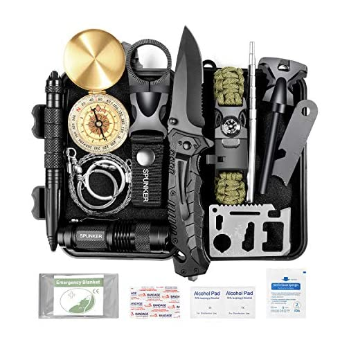 SPUNKER Gifts for Men Dad Fathers Day,15 in 1 Survival Kit,Birthday Gifts Ideas for Him Husband Boyfriend Teen Boy,Cool Gadget, Fishing,Camping,Survival Gear 3