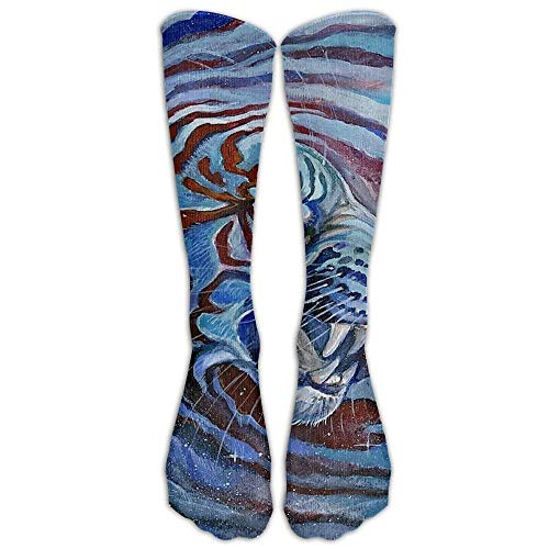xinfub Floral Designer Dekorative Overknee-Socken, lange Strümpfe für Mädchen und Damen (lang, 50 cm bequem) 6278