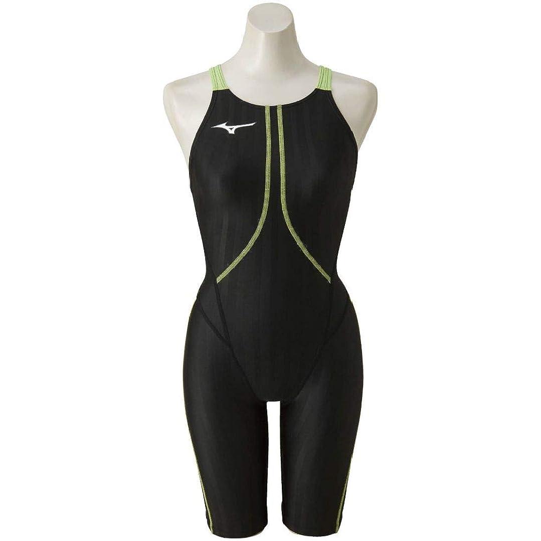 セージ優先権要求[ミズノ] レディース 競泳水着 AC ハーフスーツ ブラック×ライム N2MG822393