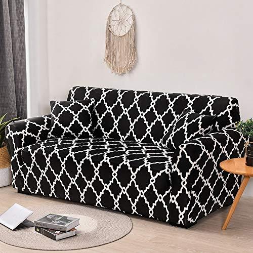ASCV Funda de sofá Funda de sofá elástica geométrica para Sala de Estar Sofá de Esquina seccional Moderno Funda de sofá Funda de sofá Protector de Silla A2 1 Plaza